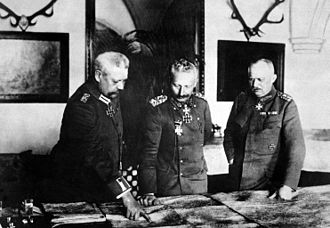 Erich Ludendorff - Hindenburg, Kaiser Wilhelm II, and Ludendorff, January 1917