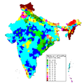 Hindu population in India by district, 2001.png