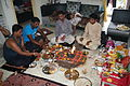Hindu puja at home, Ahmedabad 08.JPG