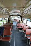 Historical bus Jelcz 021 (-549, reg. KR 55G, built 1975)-interior, owned by MPK Kraków. This is the only remaining vehicle of this class in the world. Przyjazni Av, Nowa Huta, Poland.jpg