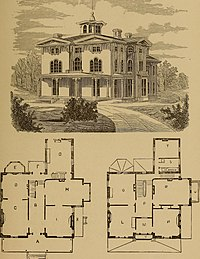 Hobbs's architecture- containing designs and ground plans for villas, cottages and other edifices, both suburban and rural, adapted to the United States. With rules for criticism, and introduction (14589729948).jpg