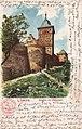 Hoffmanns Stärkefabriken - Postkarte Lübeck, Burgtor und Stadtmauer.jpg