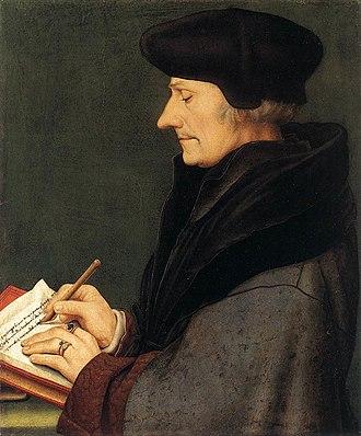 Portrait of Erasmus of Rotterdam - Image: Holbein erasmus 2