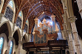 Holy Name Cathedral (Chicago) - The organ in the west gallery