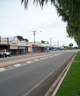 La grand'rue de Home Hill (Bruce Highway)