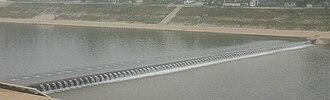Hongcheon County - The Hongcheon dam on the Hongcheon River.