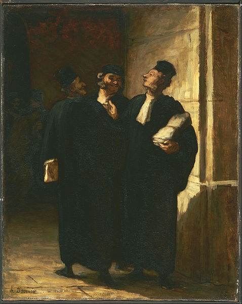 File:Honoré Daumier - Three Lawyers - Google Art Project.jpg