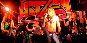 Justin Hawkins - Hawkins with new band Hot Leg, October 2008