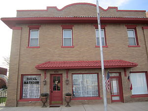 Matador, Texas - The restored Hotel Matador was founded in 1914 as the Carter Hotel.