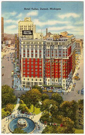 Hotel Tuller - Image: Hotel Tuller, Detroit, Michigan (69068)