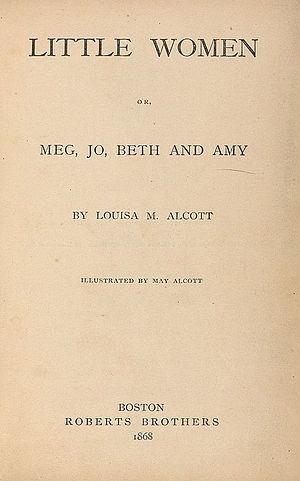Little Women - Title page of the first volume of Little Women, 1868