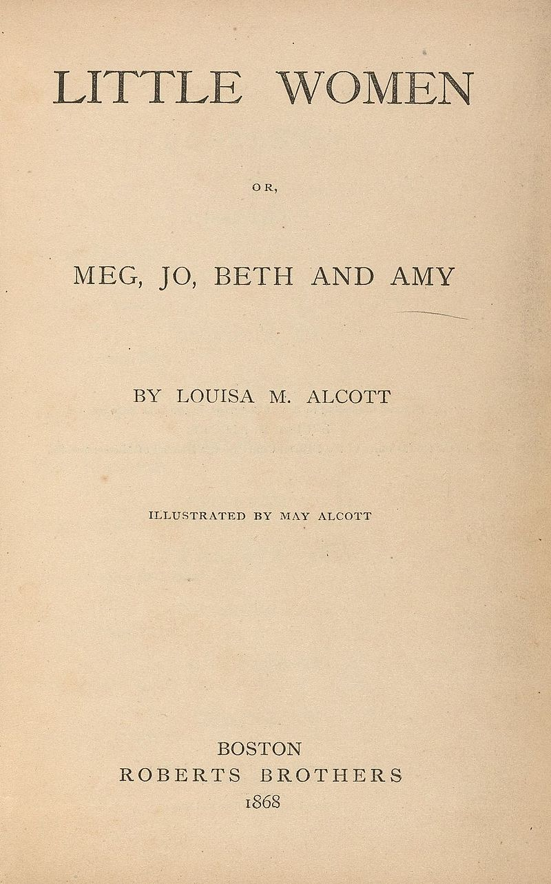 Houghton AC85.Aℓ194L.1869 pt.2aa - Little Women, title.jpg