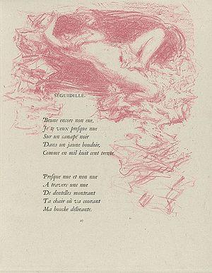 Pierre Bonnard - Illustration for a poem by Paul Verlaine, 1900