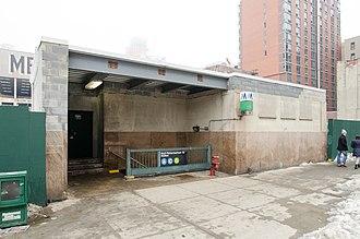 Hoyt–Schermerhorn Streets (New York City Subway) - Station entrance at 209 Schermerhorn Street, seen in 2014 before reconstruction