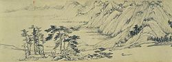 Huang Gongwang. Dwelling in the Fuchun Mountains. detail. National Palace Museum, Taipei.jpg