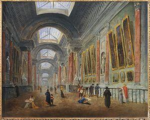 Projet d'aménagement de la Grande Galerie du Louvre, vers 1798