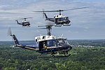 Huey Trio UH-1Ns Fly Over Joint Base Andrews, MD, May 10, 2019.jpg