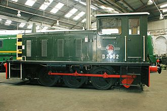 Jackshaft (locomotive) - A British Rail Class 03 shunter.