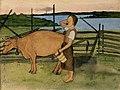 Hugo Simberg - Morning Milking - A II 968-11 - Finnish National Gallery.jpg