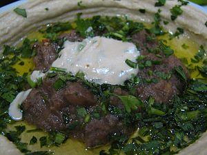 Tahini - Hummus and ful topped with tahini