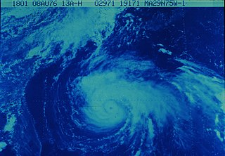Category 3 Atlantic hurricane in 1976