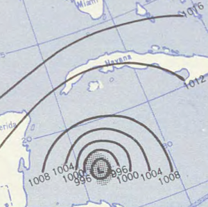 Hurricane Janet - Image: Hurricane Janet analysis 28 Sep 1955