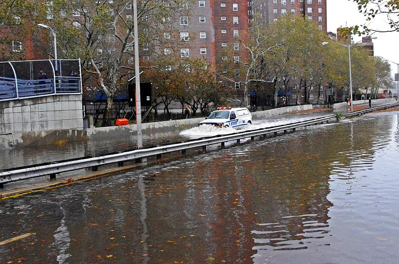 File:Hurricane Sandy NYPD FDR Flood 2012.JPG
