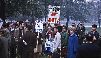 Hyde Park Protesters October 1962 during the C...