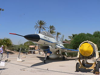 IAI Lavi - A preserved IAI Lavi being displayed during a celebration of Israel's independence in 2007