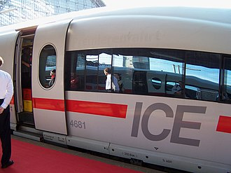 Plug door - High-speed ICE train