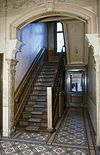 interieur, beneden hal, trapopgang - borne - 20260701 - rce