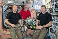 ISS-47 Crew eating dinner inside the Unity module.jpg