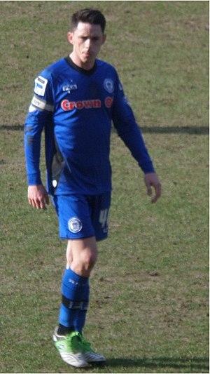 Ian Henderson (footballer) - Henderson playing for Rochdale in 2015