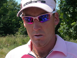 Ian Poulter English professional golfer