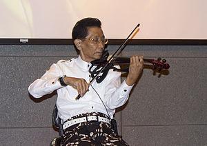 Idris Sardi - Image: Idris Sardi at the National Library of Indonesia 06