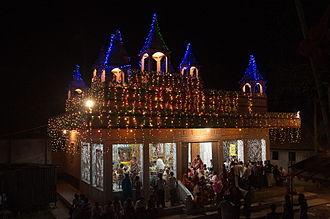 Dhamrai Rathayatra - Illuminated Madhob Mandir