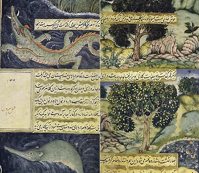 Illustrations from Babur-namah 1