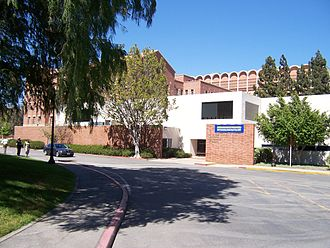 Institute for Pure and Applied Mathematics - A view of the Institute. The building with white arches in the background is Knudsen Hall.