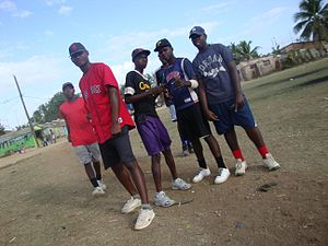 Sport in the Dominican Republic - Young Dominican ball players at Campo Las Palmas