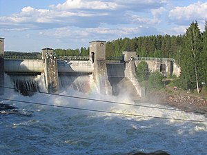 Fortum - Imatrankoski hydroelectric power plant.