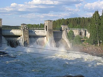 Imatra - The dam of Imatra