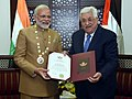 In a special recognition of the Prime Minister, Shri Narendra Modi's contribution to relations between India and Palestine, the President of the State of Palestine.jpg
