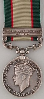 India General Service Medal (1936) British campaign medal awarded for service on the North-West Frontier of Inidia