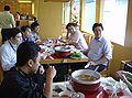 Indonesian Wikipedians eating (30-7-2007).jpg