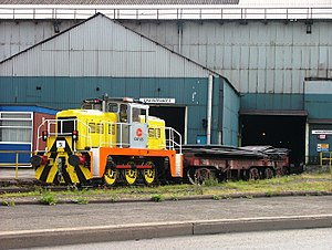 VolkerRail - Locomotive 51 at Scunthorpe steelworks.