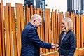 Informal meeting of defence ministers (FAC). Arrivals Jüri Luik and Federica Mogherini (36245365074).jpg