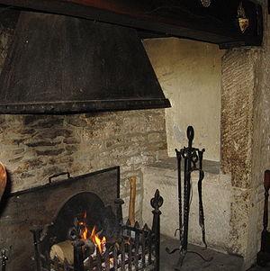 Inglenook - 17th century English inglenook fireplace.