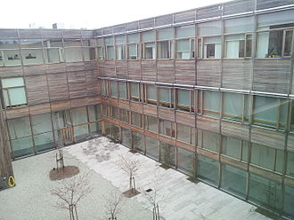 Swedish National Heritage Board - The inner courtyard of the National Heritage Board's building in Visby