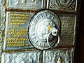 Inscription on door to Bhimakali Temple - These gates were made in the reign of Raja Padam Singh 1827. Sarahan, India.jpg