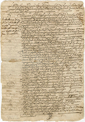 Pedro de Peralta - Orders to Pedro de Peralta upon appointment as Governor of New Mexico, 1609